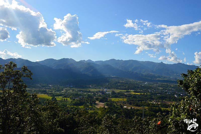 Vistas de las montañas de Pai, en Tailandia.