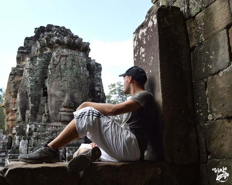 Día en los templos de Angkor de Camboya.