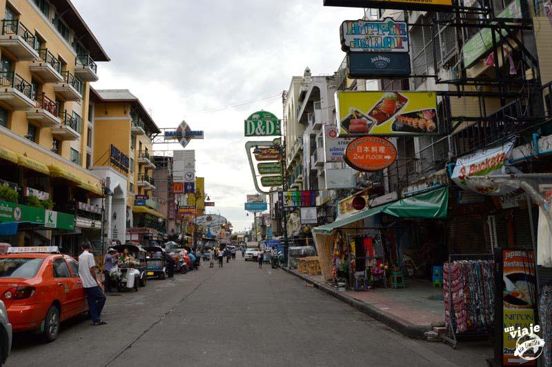 Khao San Road a primera hora de la mañana.