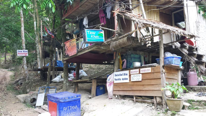 Hostal barato en Railey, Tailandia.