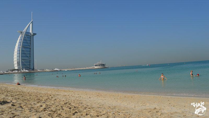 Vistas del hotel de 7 estrellas de Dubai.