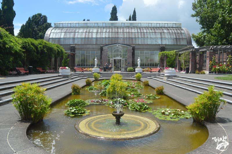 Jardin botánico de Auckland.