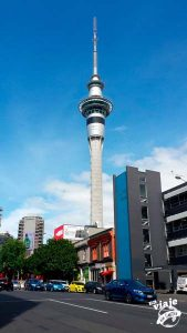 El Sky Tower de Auckland.