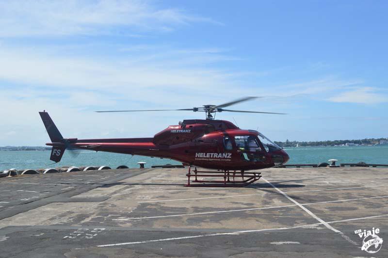 Helicóptero en el día nacional de Nueva Zelanda.