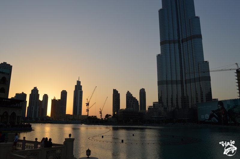Atardeciendo en el corazón de Dubai.