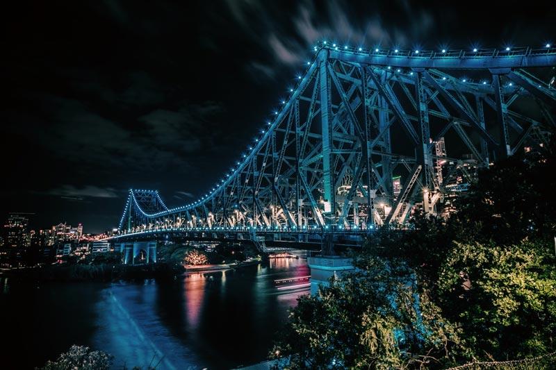 Story Bridge, puente en Brisbane, Australia.
