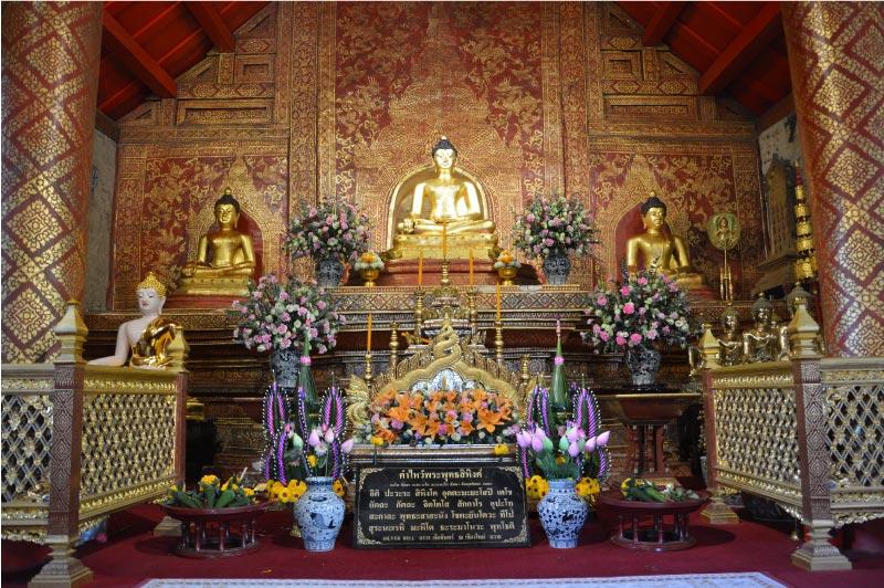Protectora de Chiang Mai, templo Phra singha.