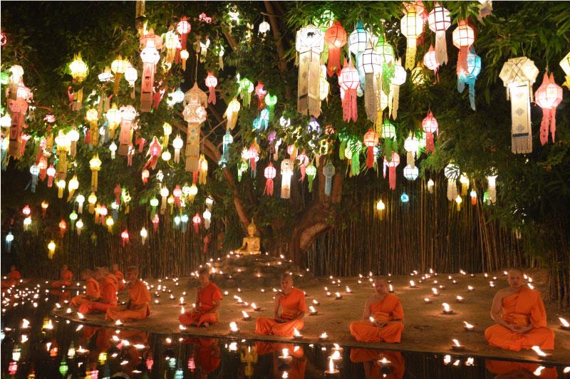 Wat Phan Tao, templo de Chiang Mai, Tailandia.