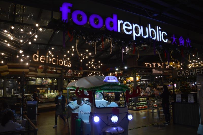 Food republic, centro comercial Siam Centre, Bangkok.