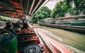 barco por los canales de Bangkok