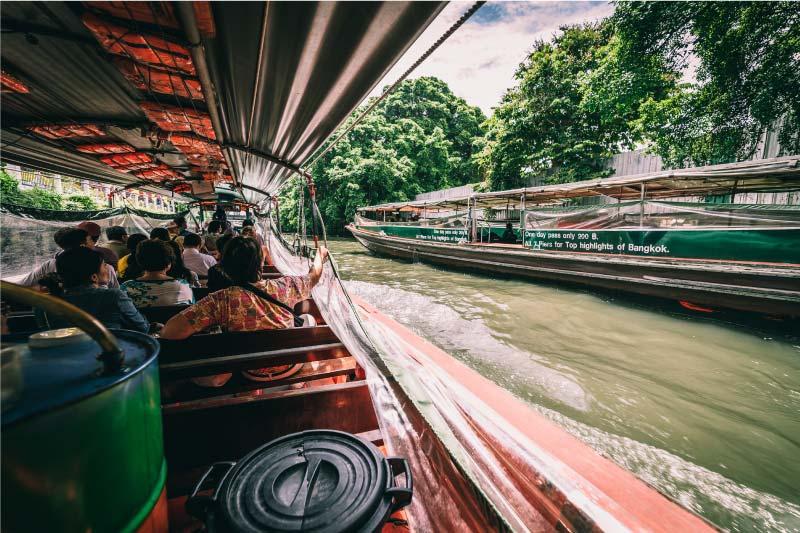 Como moverse en barco por Bangkok
