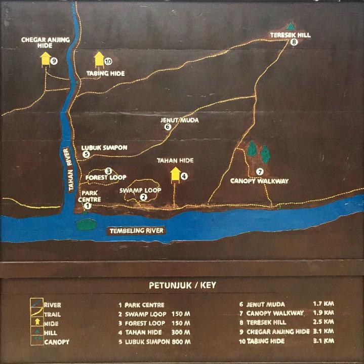 Mapa de Taman Negara, Malasia.