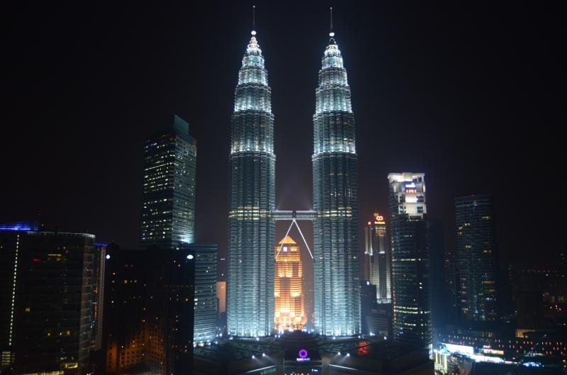 Torres petronas de Kuala Lumpur, Malasia.