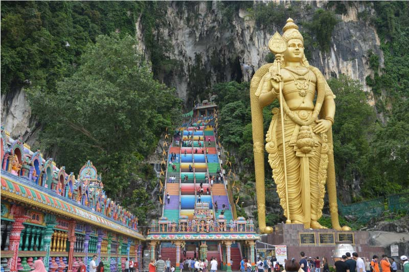 Batu caves, Kuala Lumpur, Malasia.